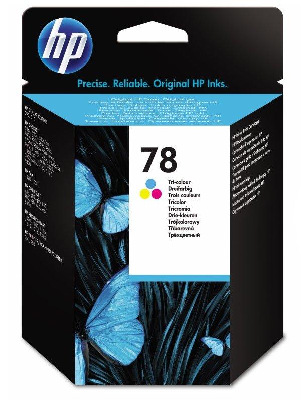 Cartridge inkoustová náplň HP 78 HP C6578D - ink. barevná, DJ 9xx,1220, C6578DE