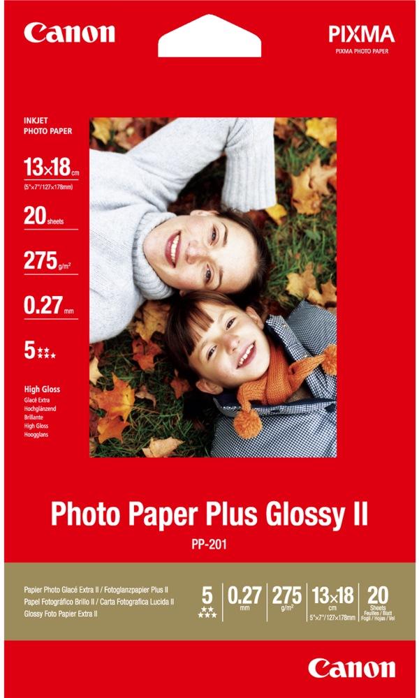Fotopapír Canon Plus Glossy II PP-201 13 x 18 mm Fotopapír, 13x18cm, lesklý, 275g, 20ks 2311B018