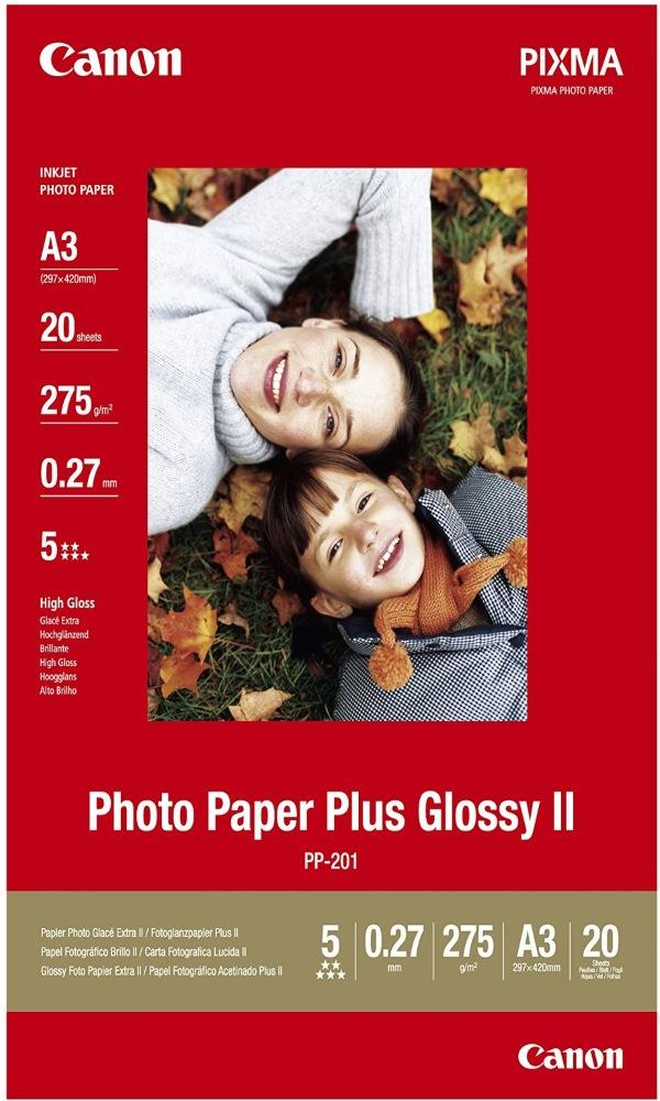 Fotopapír Canon Plus Glossy II PP-201 A3 Fotopapír, A3, lesklý, 275g, 20ks 2311B020