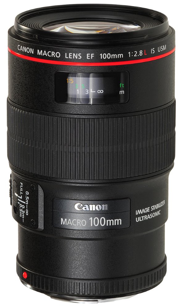 Objektiv Canon EF 100 mm f/2,8 L makro IS USM Objektiv, EF, 100 mm, f/2,8 L, makro, IS, USM 3554B005AA