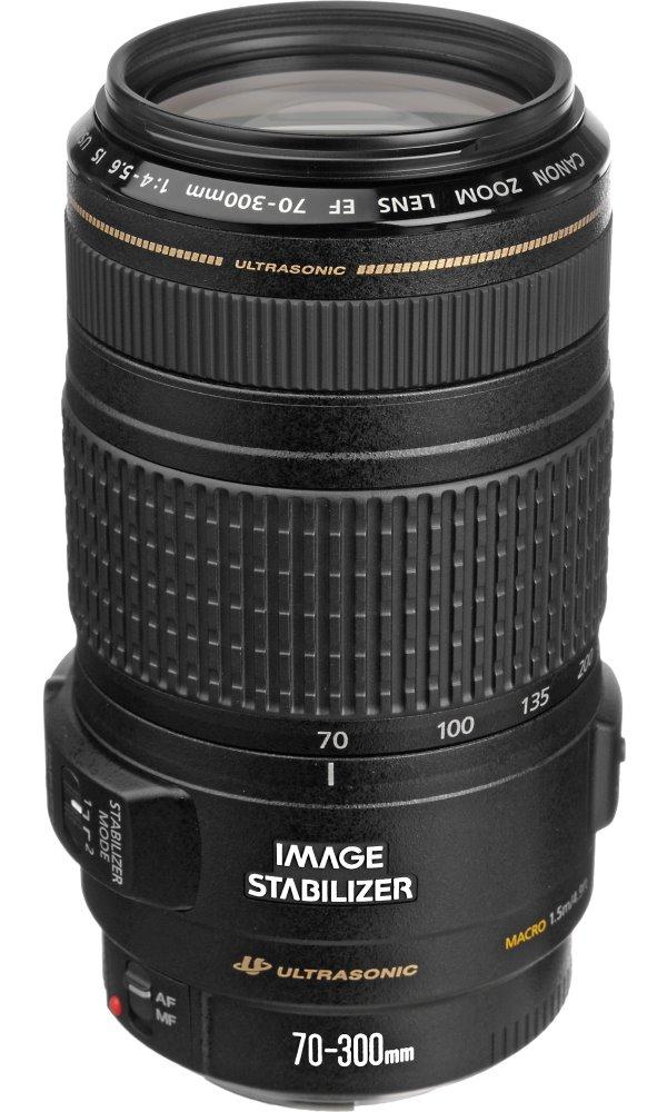 Objektiv Canon EF 70 - 300 mm f/4-5,6 IS USM Objektiv, EF, 70 - 300 mm, f/4-5,6, USM, IS, zoom, vhodné pro focení sportu a přírody 0345B013AA