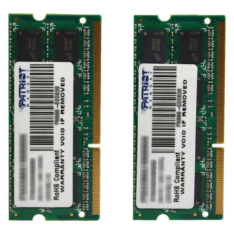 Operační paměť RAM Patriot SO-DIMM 8GB 1333MHz Operační paměť, DDR3 8GB 2x4GB, EP PC3-10666 1333MHz CL9 PSD38G1333SK