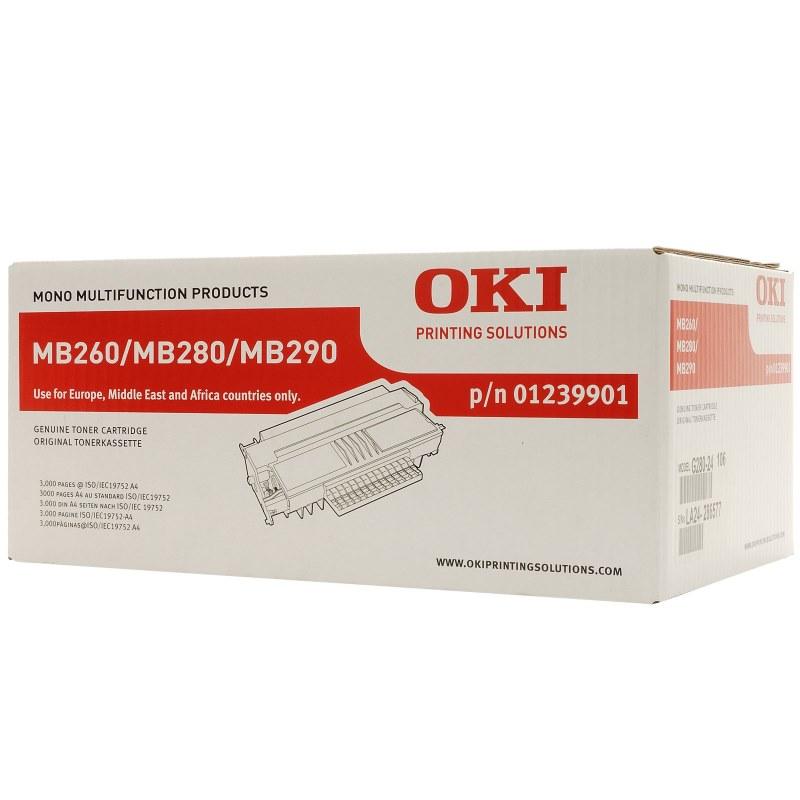Toner OKI 01239901 černý Toner pro MB200, MB260, MB280, MB290, 3000 stran, černý 01239901
