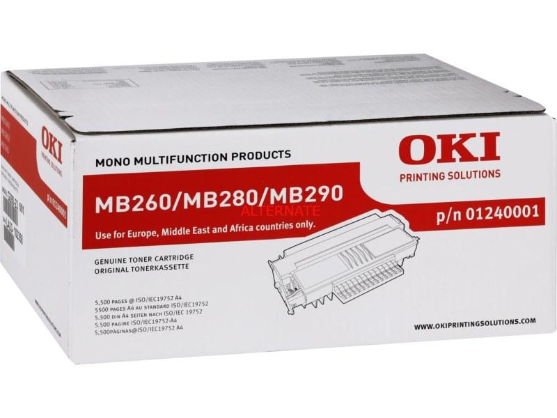 Toner OKI 01240001 černý Toner pro MB200, MB260, MB280, MB290, 5500 stran, černý 01240001