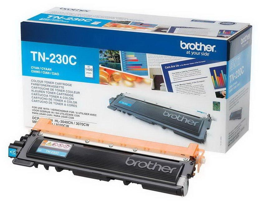 Toner Brother TN-230C modrý Toner, originální, pro Brother HL-3040, 3070, NFC-9010, 9120, 9320, 1400 stránek, modrý