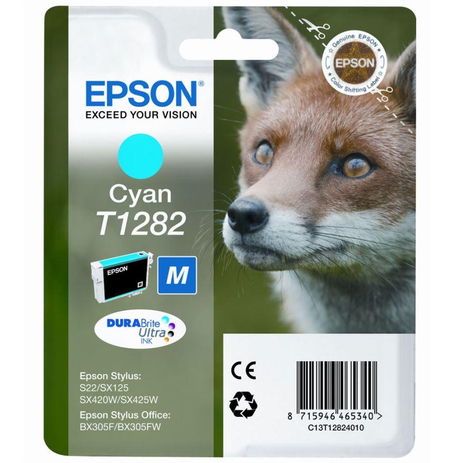 Cartridge inkoustová náplň Epson , C13T128240, S22, SX125, SX425W, BX305F, Modrá C13T12824010