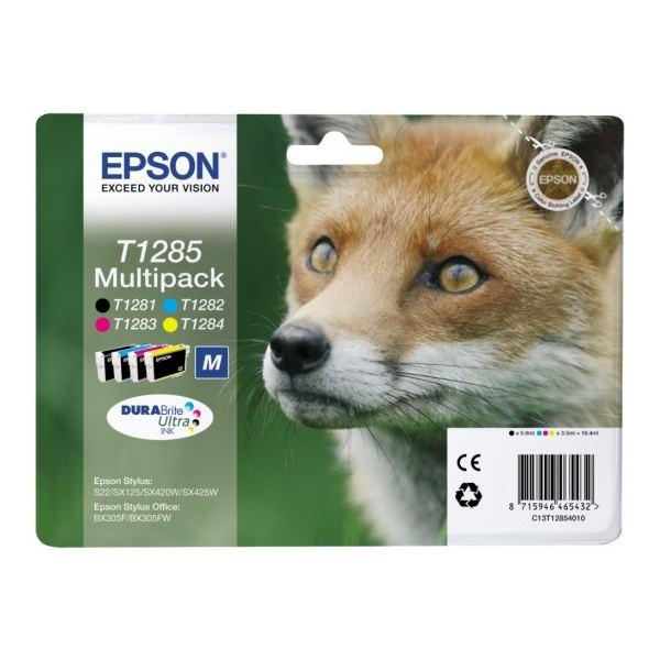 Cartridge inkoustová náplň Epson MULTIPACK, C13T128540, S22, SX125, SX425W, BX305F, 4 barvy C13T12854010