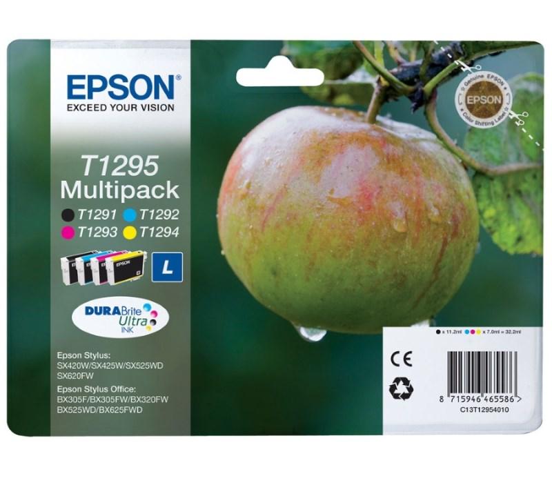 Cartridge inkoustová náplň Epson MULTIPACK, C13T129540, SX425W, SX525WD, BX305F, BX320FW, BX625FWD, 4 barvy C13T12954010