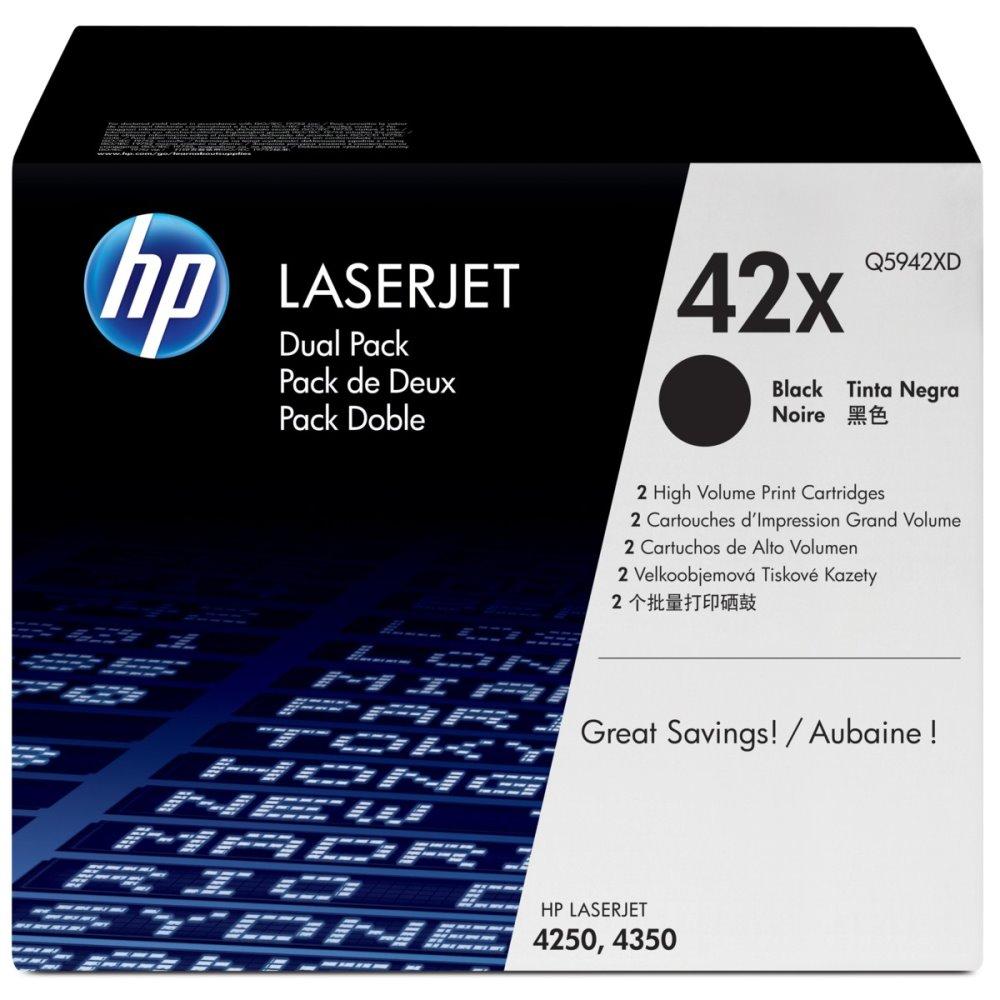 Toner HP Q5942XD pro LJ 4250,4350, černý, high capacity 2-pack Q5942XD