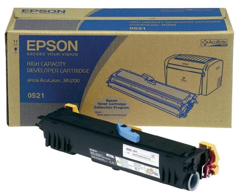 Toner Epson pro M1200, 3200 stran, Černý C13S050521
