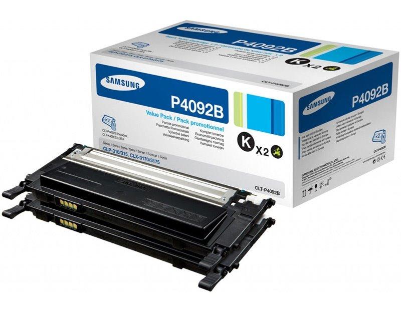 Toner SAMSUNG CLT-P4092B dualpack černý Toner, pro SAMSUNG CLP-310, 315, CLX-3170, 3175 černý, 2x 1500 stran, dualpack, 2xčerný CLT-P4092B/ELS