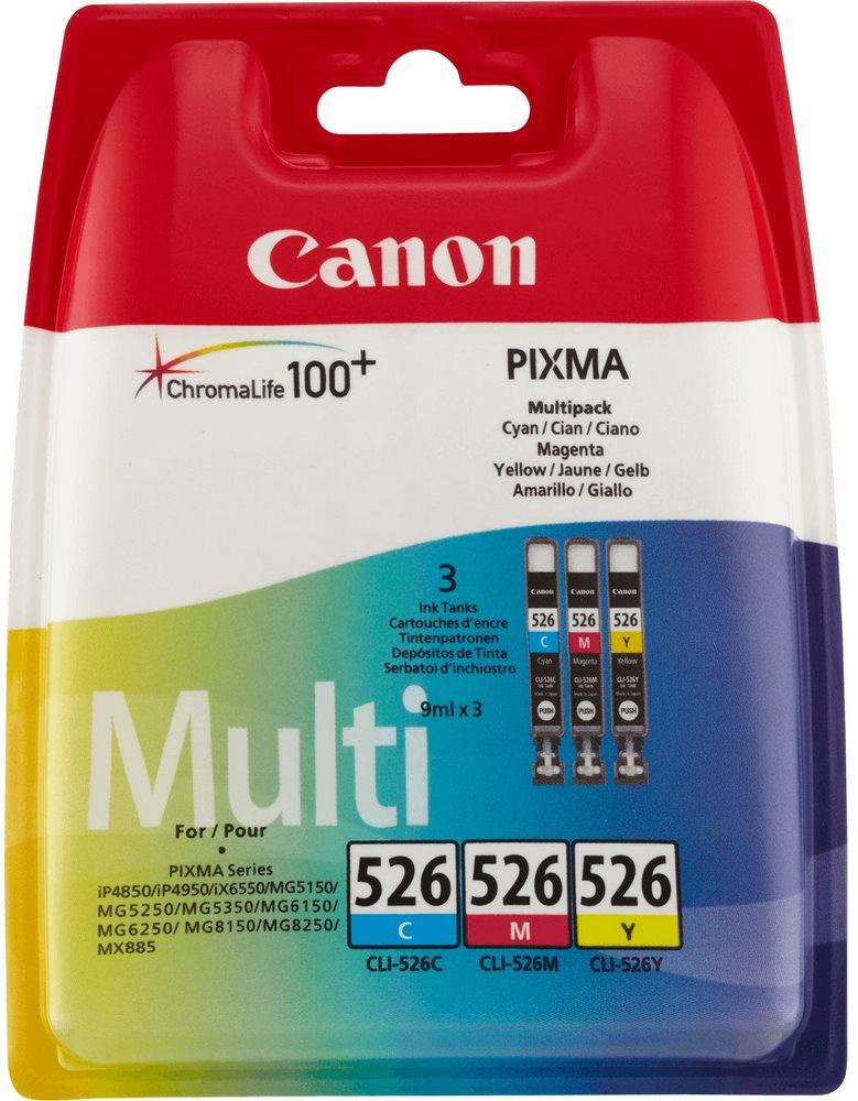 Cartridge inkoustová náplň Canon multipack náplní CLI-526-C+M+Y 4541B009
