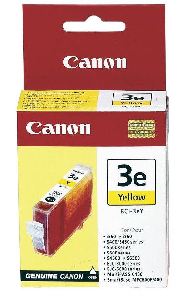 Inkoustová náplň Canon BCI-3eY žlutá Inkoustová náplň, originální, pro Canon S400, S450, BJC 3000, 6000, žlutá
