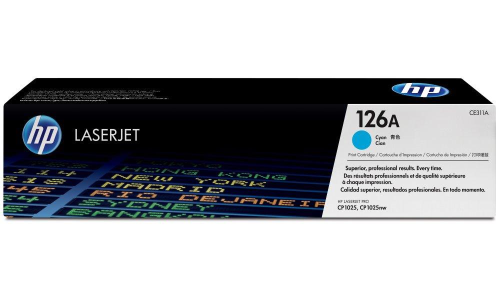 Toner HP 126A CE311A modrý Toner, originální, pro HP LaserJet Pro CP1020, M175a, M275, 1000 stran, modrý CE311A