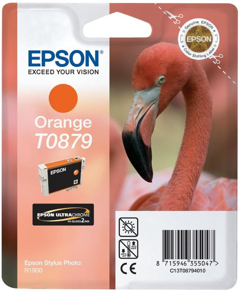 Cartridge inkoustová náplň Epson , C13T087940, R1900, Oranžová C13T08794010