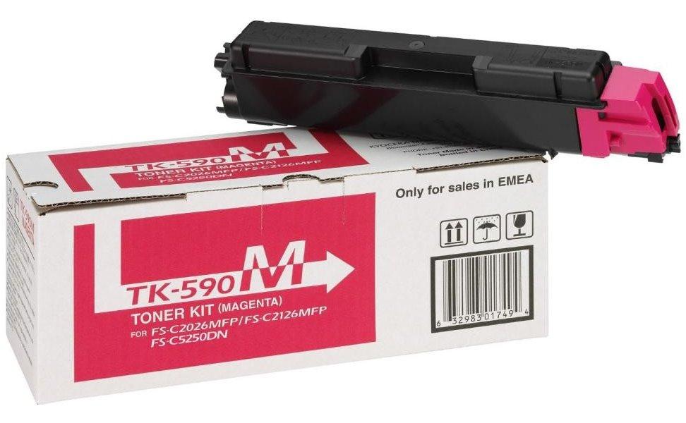 Kyocera toner TK-590M/ FS-C2026MFP/ C2126MFP/ 5 000 stran/ Magenta