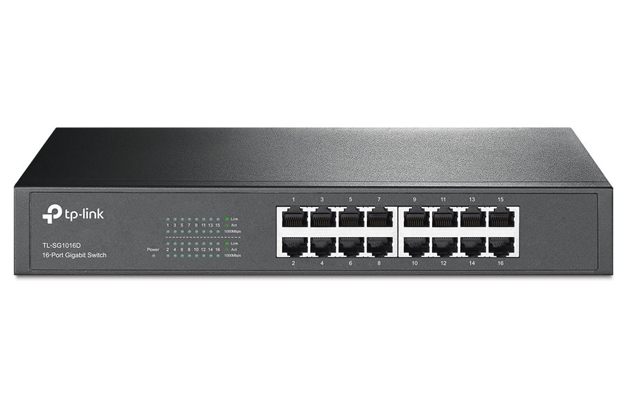Switch TP-LINK TL-SG1016D Switch, 16 x 10/100/1000 Mbps, desktop, rack-mount TL-SG1016D