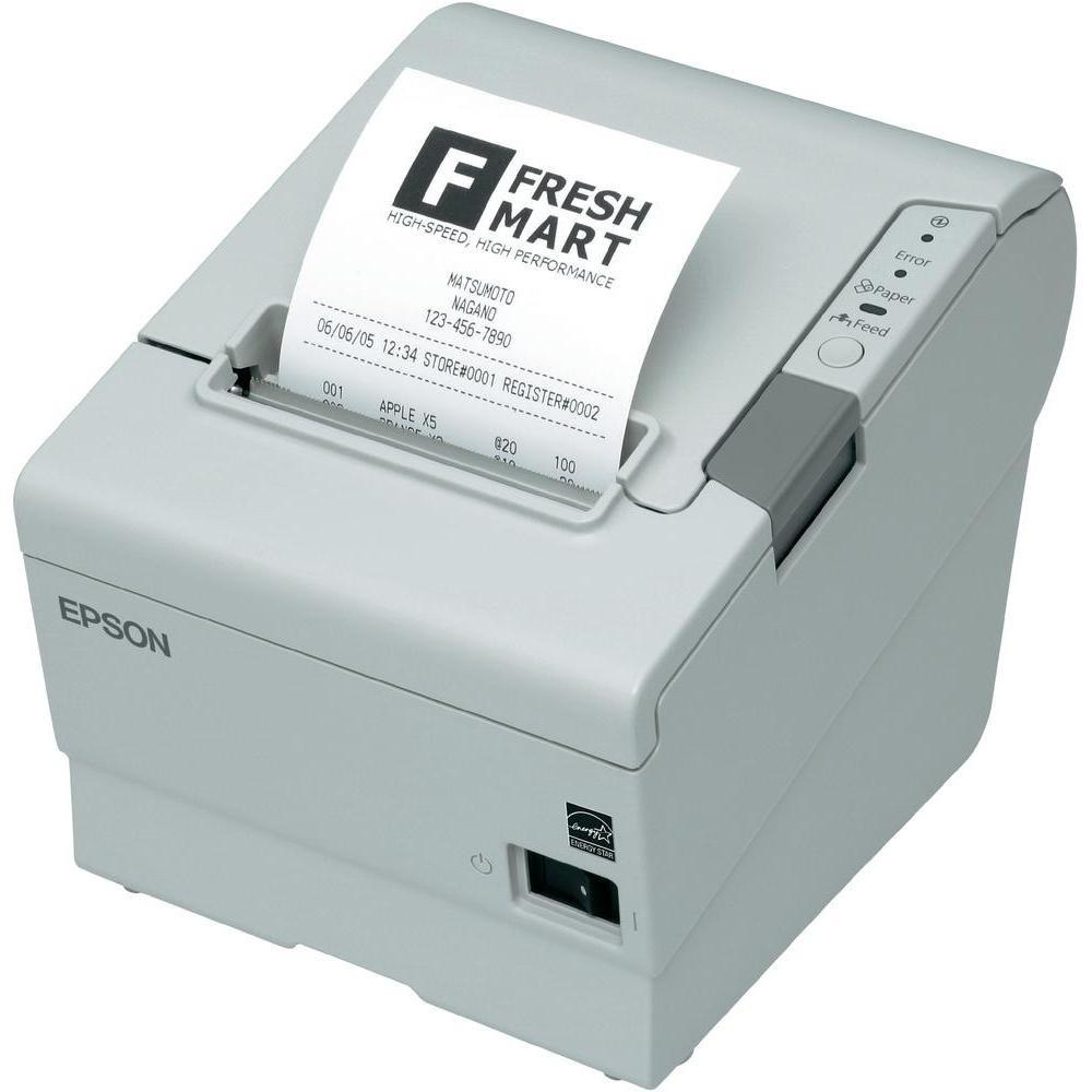 Pokladní tiskárna EPSON TM-T88V Pokladní tiskárna, USB + sériová, bílá, včetně zdroje, EU kabel C31CA85012