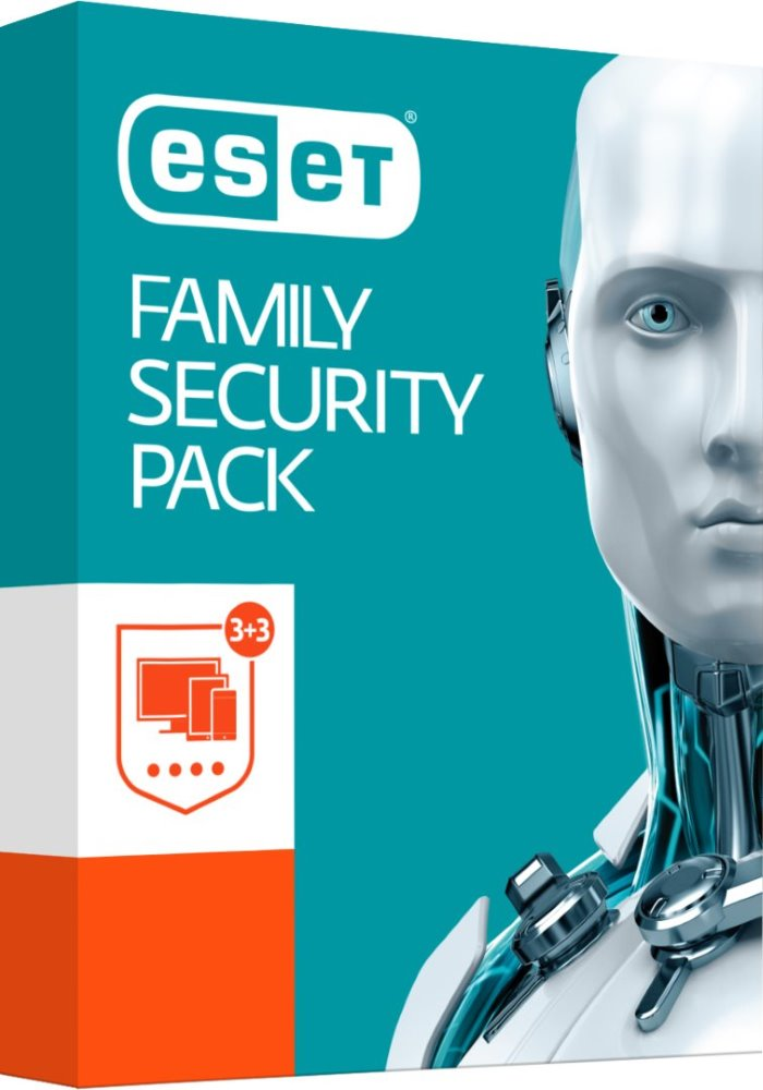 Antivirový software ESET Family Security Pack Antivirový software, 3 uživatelé, 1 rok SWE300
