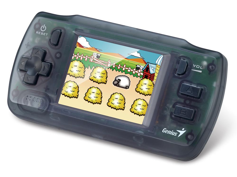 Konzole Genius Heeha 100X Konzole, herní, s 30 hrami, ovládání hlasitosti, jednoduché ovládání 31690012100