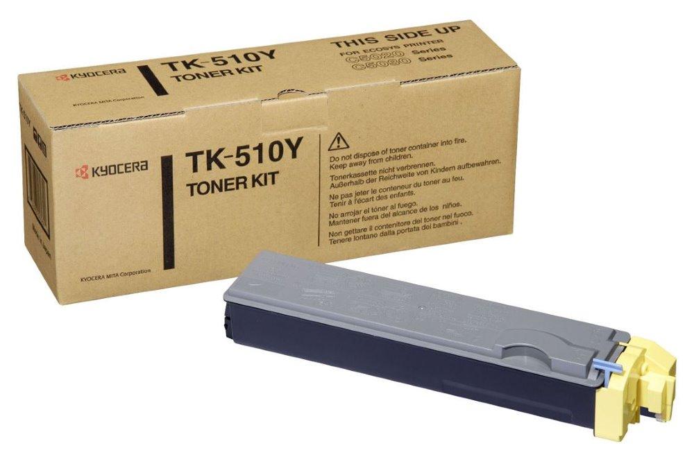 Toner Kyocera TK-510Y , FS-C5020N, C5030N, 8000 stran, Žlutý TK-510Y
