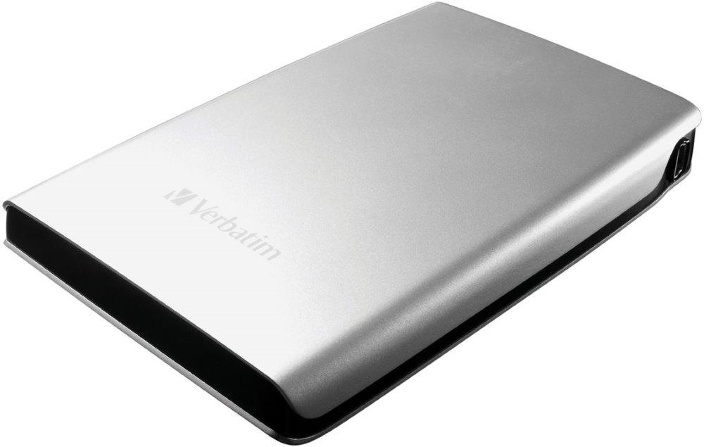 Pevný disk VERBATIM Store 039n039 Save 500 GB Pevný disk, externí, portable, 2,5, 5400 RPM, USB 3.0, stříbrný 53021