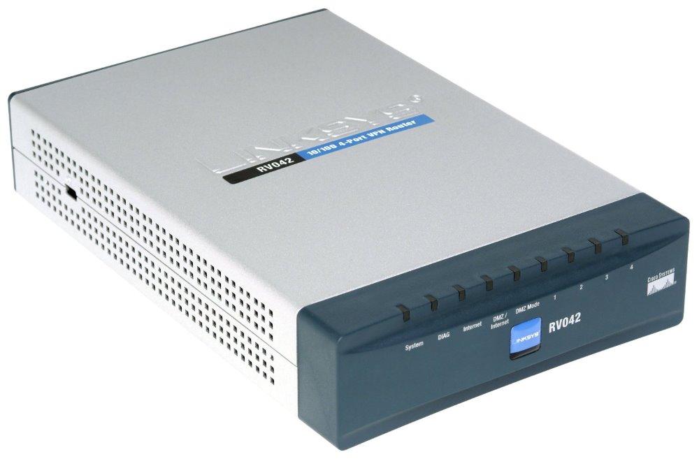 Router Cisco RV042 Router, VPN, 10/100 Fast Ethernet, 4-portový RV042-EU