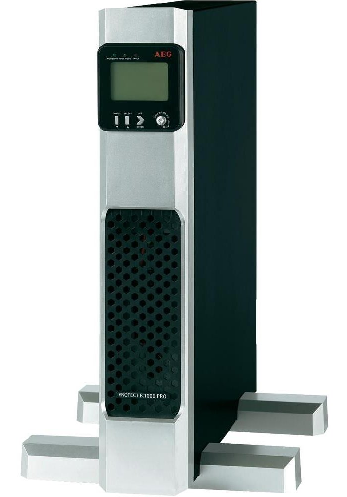Záložní zdroj UPS AEG UPS Protect B.1000 PRO Záložní zdroj UPS, 1000 VA, 900 W, 230 V, Tower/Rack - 2U, otočný display, line-interactive UPS 6000013872