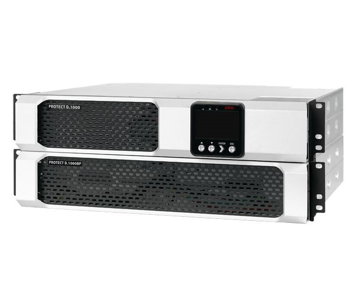 Záložní zdroj UPS AEG UPS Protect D.1000 Záložní zdroj UPS, 1000 VA, 900 W, 230 V, Rack - 2U, vč. pojezdů 6000008434