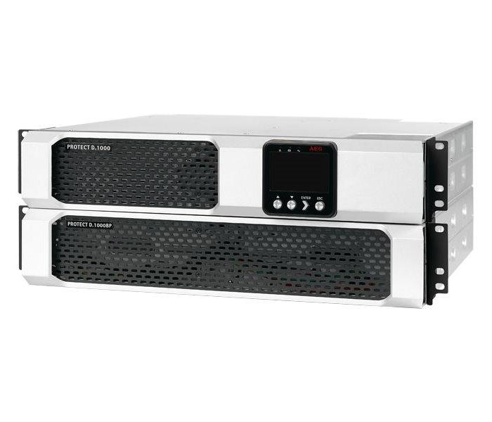 Záložní zdroj UPS AEG UPS Protect D.1500 Záložní zdroj UPS, 1500 VA, 1350 W, 230 V, Rack - 2U, vč. pojezdů 6000008436
