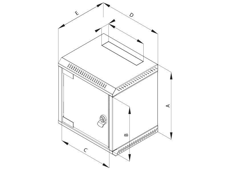 Nástěnný rozvaděč Triton RBA-04-CS3-CAX-C1 Nástěnný rozvaděč, jednodílný, 10, 4U, 260 mm, plechové dveře RBA-04-CS3-CAX-C1