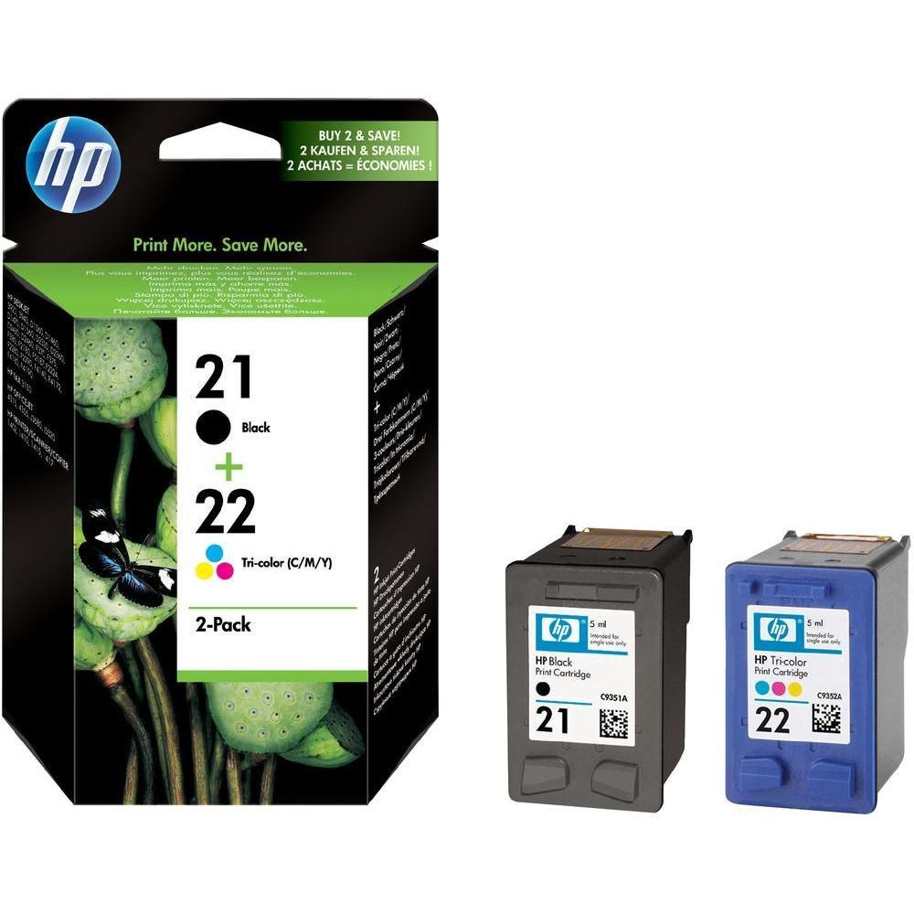 Cartridge inkoustová náplň HP HP 21,22 Inkoustové tiskové kazety, sada Combo Pack, C9351AE + C9352AE SD367AE