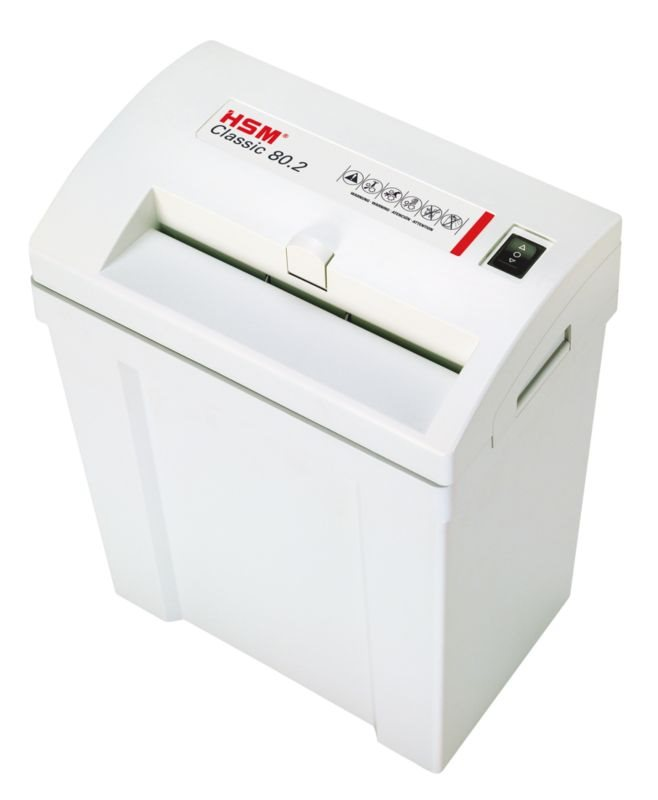 Skartovačka HSM 80.2 5,8 mm Skartovačka, formát A4, velikost odpadu 5,8mm, stupeň utajení DIN 2 4026631024631
