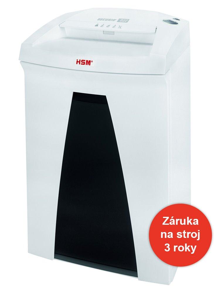 Skartovačka HSM Securio B22 1,9x15 mm Skartovačka, formát A4, velikost odpadu 1,9 x 15mm, stupeň utajení DIN 4 4026631047845