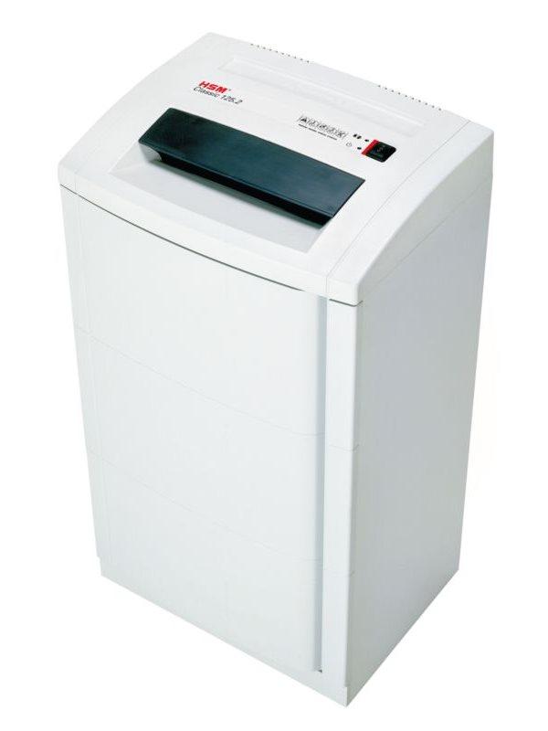 Skartovačka HSM 125.2 3,9x30 mm Skartovačka, formát A4, velikost odpadu 3,9x30mm, stupeň utajení DIN 3, cert. NBÚ D 4026631008044