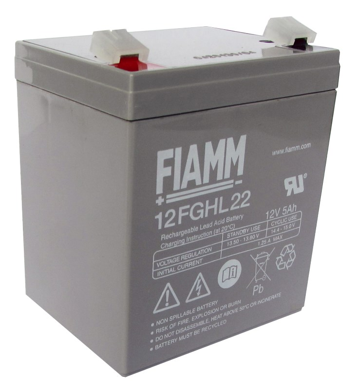 Baterie FIAMM 12FGHL22 Baterie, pro UPS, pro AEG Protect Home 600, B.3000, 12V, 5,0Ah, životnost 10 let, Faston 250