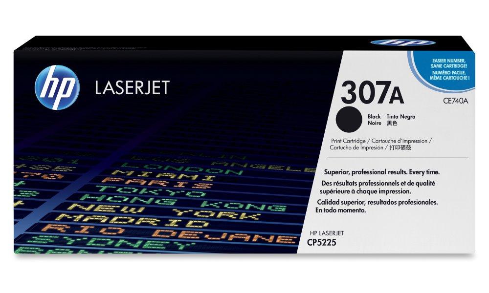 Toner HP 307A CE740A černý Toner, originální, pro HP Color LaserJet Professional CP5225, CP5225n, CP5225dn, 7000 stran, černý CE740A