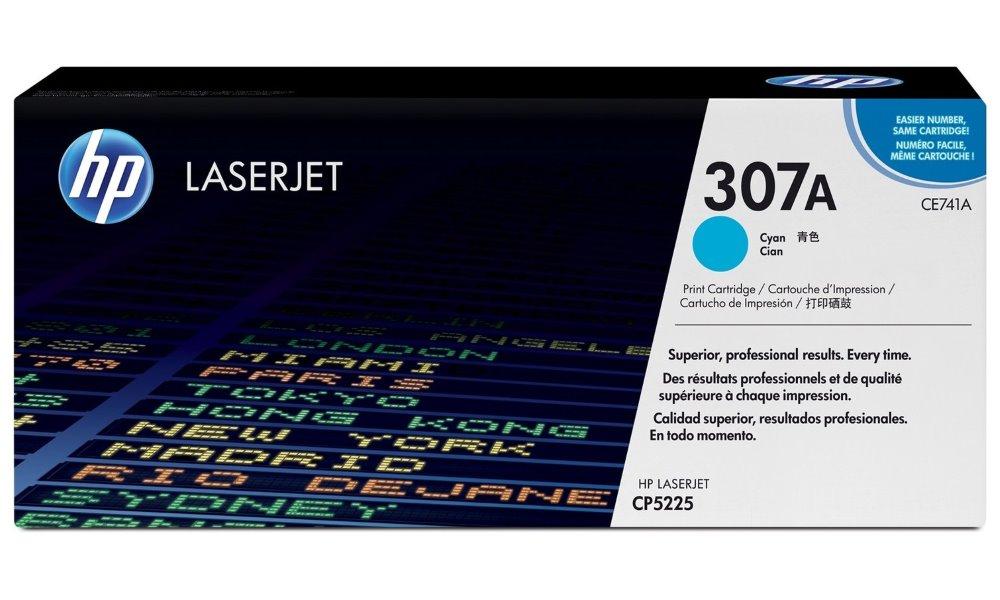 Toner HP 307A CE741A modrý Toner, originální, pro HP Color LaserJet Professional CP5225, CP5225n, CP5225dn, 7300 stran, modrý CE741A