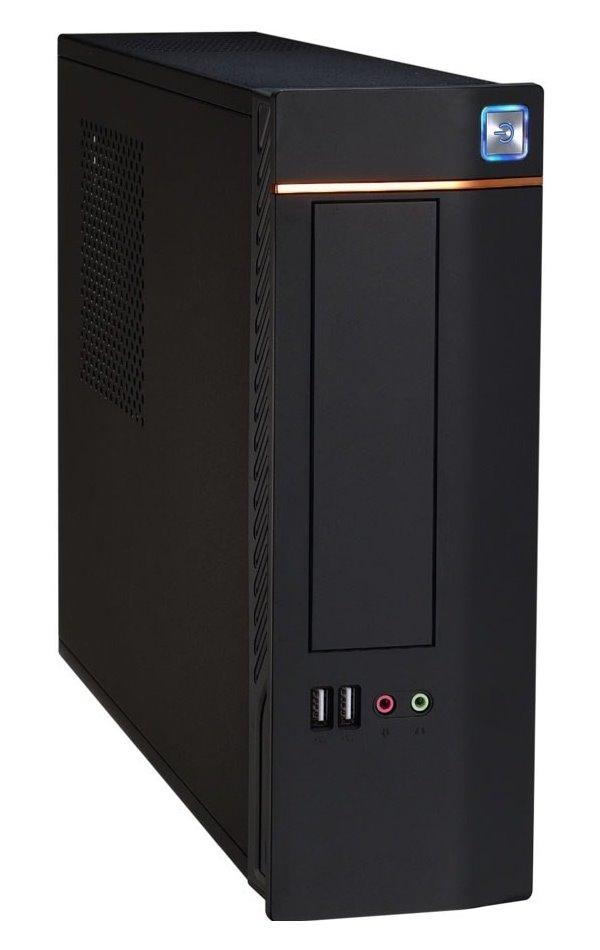 Skříň EUROCASE WT-02 PC skříň, micro tower, TFX, MINI ITX, bez zdroje, čtečka karet, černá ITXWT-02