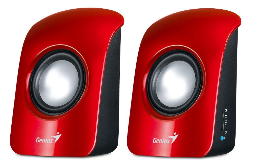 Reproduktory Genius SP-U115 Reproduktory, přenosné, USB napájení, červené 31731006101