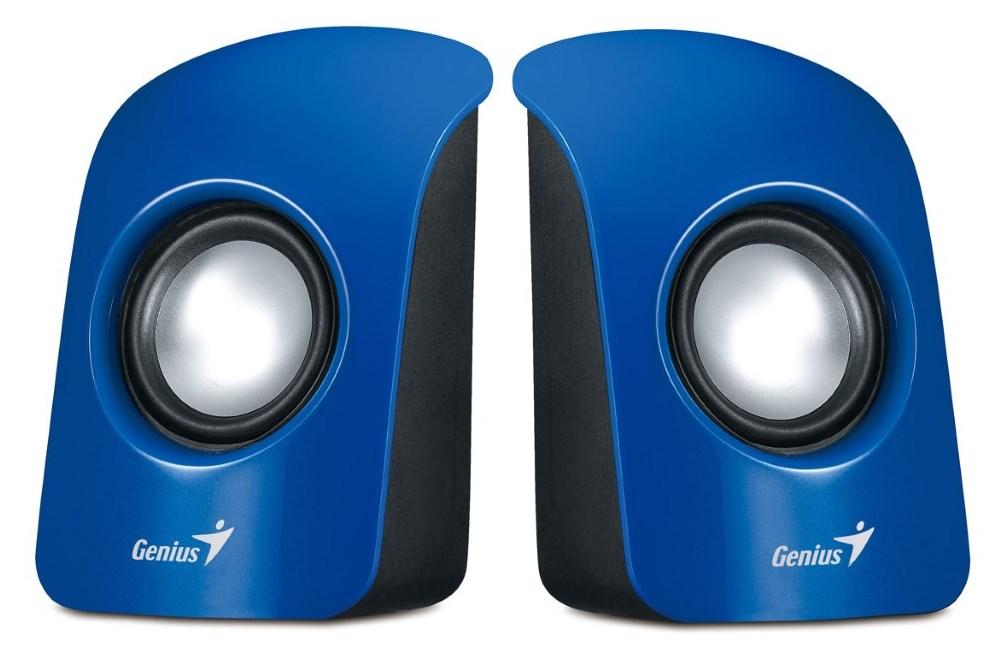 Reproduktory Genius SP-U115 Reproduktory, přenosné, USB napájení, modré 31731006102