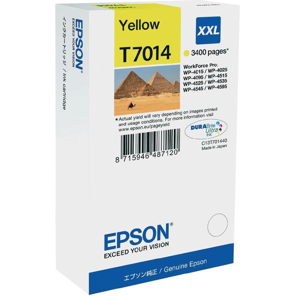 Epson inkoustová náplň/ C13T70144010/ WP-4000/ 4500/ 3 400 stran/ XXL Žlutá