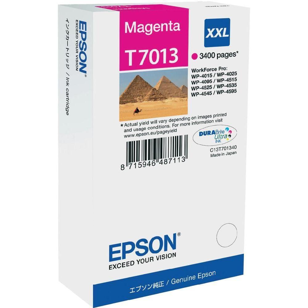 Epson inkoustová náplň/ C13T70134010/ WP-4000/ 4500/ 3 400 stran/ XXL Magenta