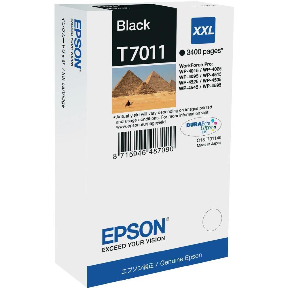 Epson inkoustová náplň/ C13T70114010/ WP-4000/ 4500/ 3 400 stran/ XXL Černá