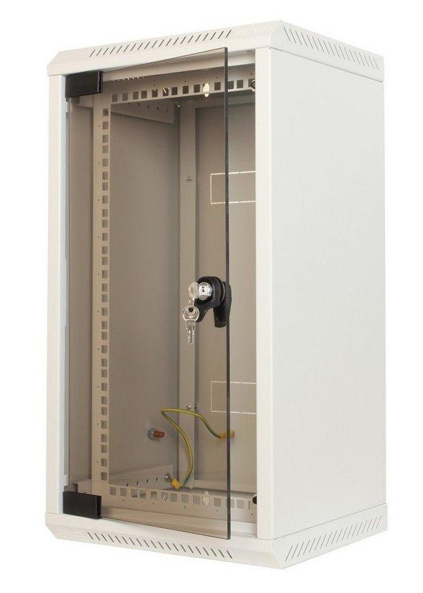 Nástěnný rozvaděč Triton 10/19 10U/5U Nástěnný rozvaděč, 10 - 10U nebo 19-5U, rozvaděč jednodílný, 260 mm, celoskleněné dveře RKA-10-AS3-CAX-X1