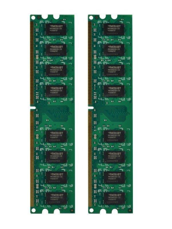 Operační paměť RAM Patriot 8 GB 800 MHz Operační paměť, DDR2 8GB 2x4GB SL PC2-6400 800MHz CL6 PSD28G800K