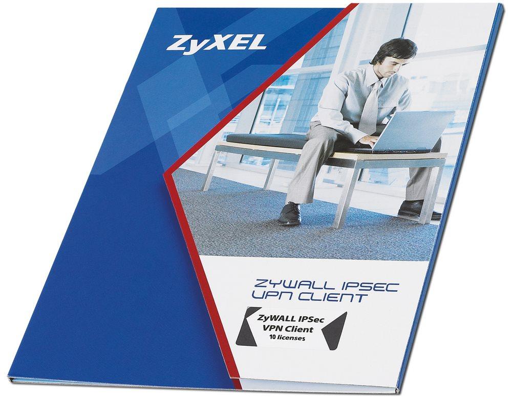 Licence ZyXEL ZyWall IPSec 10 Client Licence, IPSec 10Client, Windows XP 32, Vista 32,64, W2K, WS2003,2008 91-996-041001B