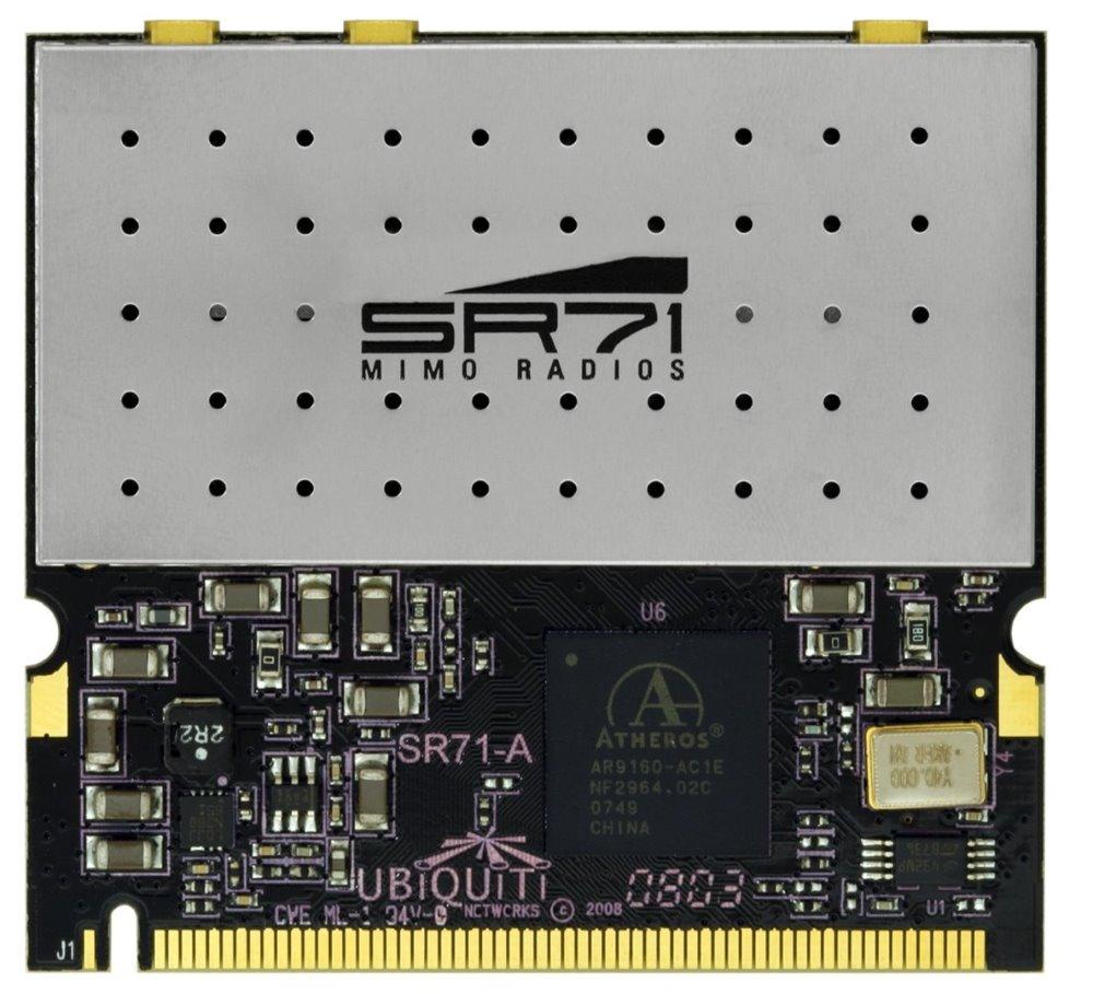 Wi-Fi karta UBNT SR71-A Wi-Fi karta, miniPCI, 250 mW, 802.11a/b/g/n, 2,4 a 5 Ghz, 3 x MMCX SR71-A