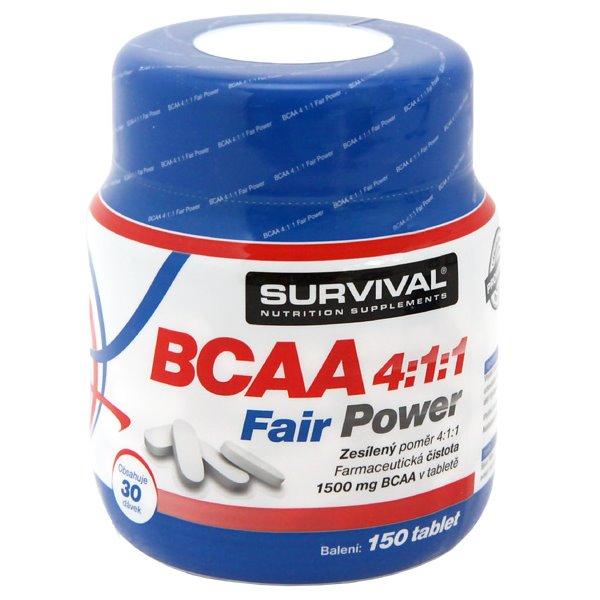 Doplněk stravy SURVIVAL BCAA 4:1:1 Fair Power Doplněk stravy, volné aminokyseliny, 150 tablet 8594056370023
