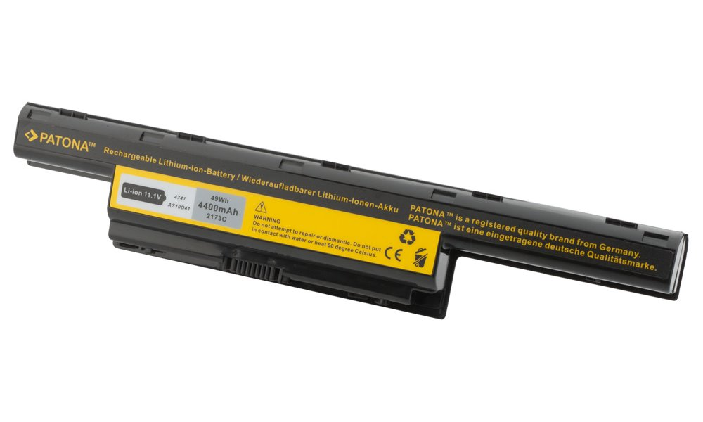 Baterie PATONA pro Acer 4400 mAh Baterie, 4400 mAh, pro notebooky Acer Aspire 4310, 4315, 4520, 4710, 4920, 2930, 4230, 4330, 4530, 4720, 4930, 4935, neoriginální PT2173
